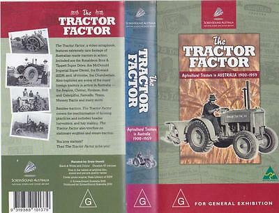 The Tractor Factor Agricultural Tractors Australia 1900-1959 Vhs Video Pal Rare