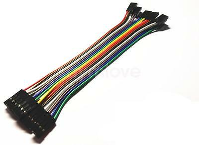 10pcs 3pin 20cm 2.54mm Female to Female Jumper Wire Dupont Cable for Arduino