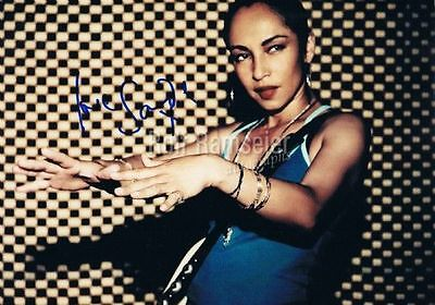 """Sade 1959- genuine autograph photo 8""""x12"""" signed In Person"""