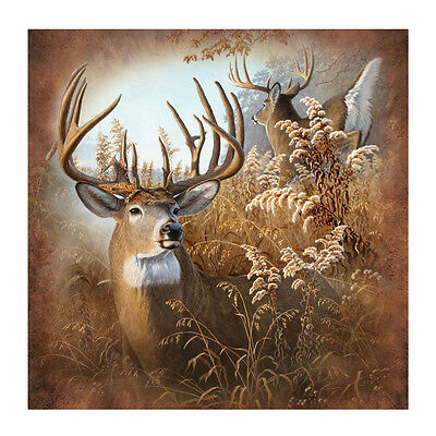 "New Deer 70"" Fabric Bath Shower Curtain Rustic Bathroom Hunting Cabin/Home Decor"