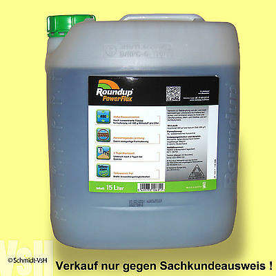 15 L Roundup PowerFlex, Weed killer, Only for professional Users