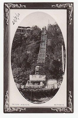 Incline Railway MONTREAL Quebec Canada 1910 Rotary Real Photo Postcard