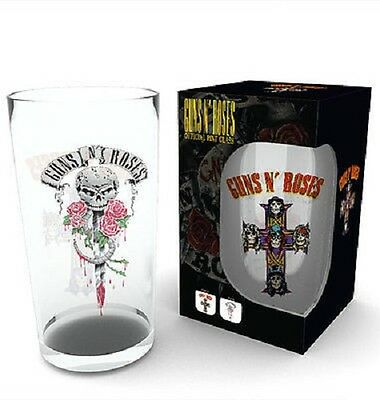 GUNS N ROSES Pint Glass NEW Boxed & Officially Licensed