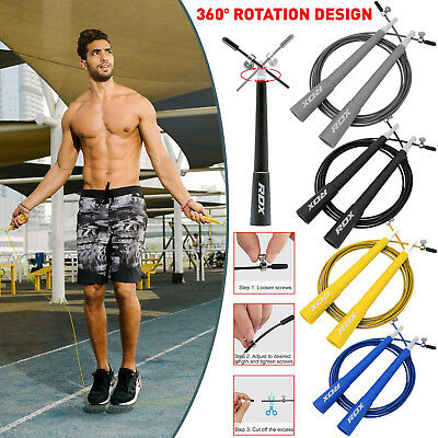 RDX Skipping Rope Boxing Exercise Adjustable Speed Jump Cable Fitness Crossfit