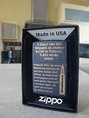 Zippo Lighter ...(2016) ...catching Bullets.. Brand New ... Free Postage