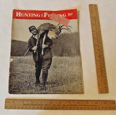 NOV 1943 - HUNTING And FISHING Combined with NATIONAL SPORTSMAN - Magazine As Is