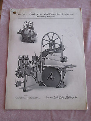 American Wood Working Machinery Combination Band Ripping & Re-Sawing Catalog D