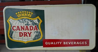 1959 Canada Dry Ginger Ale Advertising General Store Sign Soda Pop Metal