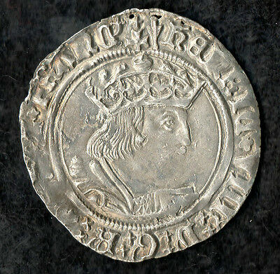 Henry VIII Groat 1526 - 1532 Profile Issue Silver Hammered Coin Nice Portrait