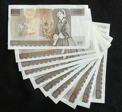 Somerset Florence Nightingale Ten Pound £10 Banknote ( Issued 1980-1988 ) EF+