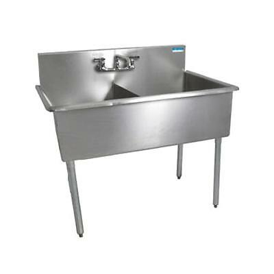 "Bk Resources 2 Compartment Budget Sink 18"" X 21"" Stainless Steel - Bk8Bs-2-1821-"