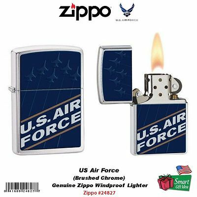 Zippo US Air Force Lighter, Brushed Chrome, Genuine Windproof #24827