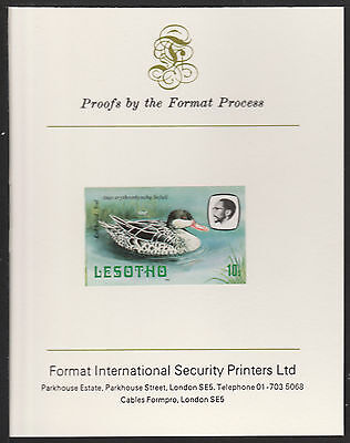 Lesotho (497) 1981 Teal 10s imperf on Format International PROOF  CARD