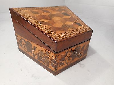Edmund Nye Tunbridge Ware Box , Tumbling Block   ref 2152
