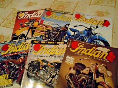 INDIAN MOTORCYCLE ILLUSTRATED x6  indian chief indian scout 741 - vintage indian