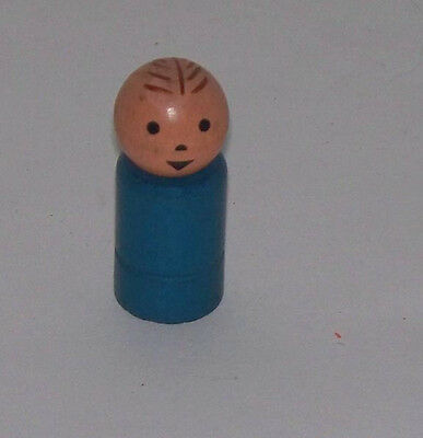 #234 Nifty Station Wagon Blue Dad Little People  1961-62 Fisher Price