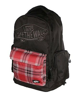 Vans Off The Wall Underhill 2 II Laptop Backpack Bookbag Mens Black PLAID New