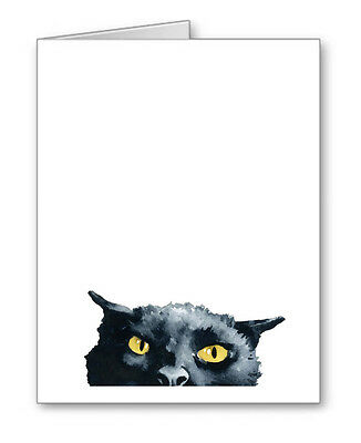 Angry Black Cat Note Cards With Envelopes