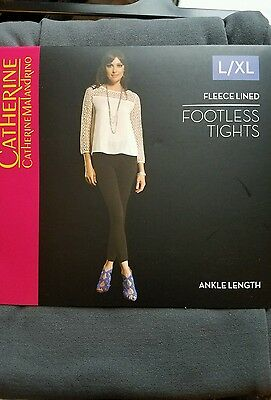 e3a236433fa27c Catherine Malandrino sz L/XLgray Fleece Lined Footless Ankle Length Tights