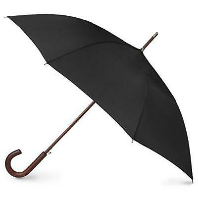 totes Auto Open Wooden Stick Umbrella,  Black,  One Size New