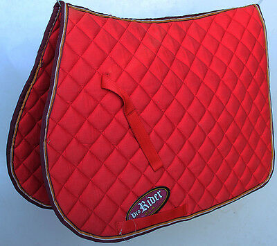 Horse Quilted ENGLISH SADDLE PAD Trail Burgundy 7244