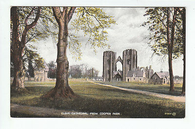 Elgin Cathedral From Cooper Park Moray 1923 Valentines 87964 Old Postcard