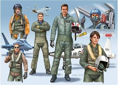 NATO PILOTS (D/GB/USA) Modern Toy Soldiers 1/72 scale Revell model kit#2402