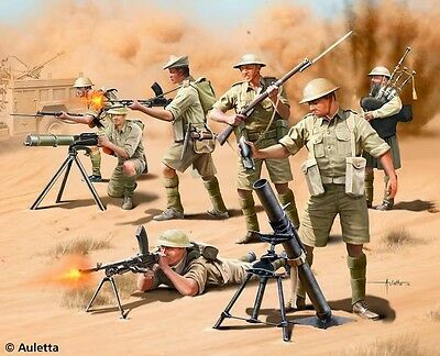 British 8th Army WW2 Toy Soldiers 1/76 scale Revell plastic model kit#2617