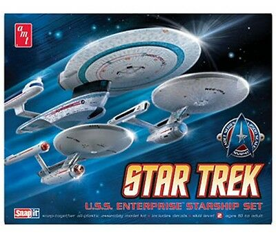Star Trek Cadet Series: Enterprise Set w/3 models 1/2500 scale AMT model kit#660