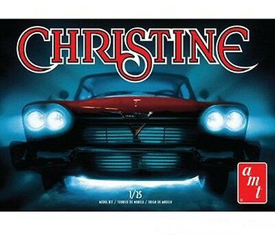 """1958 Plymouth """"Christine"""" in White 1/25 scale skill 2 AMT plastic model kit#840"""