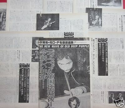 Deep Purple 1977 Clippings Japan Magazine Os 6A 18Page
