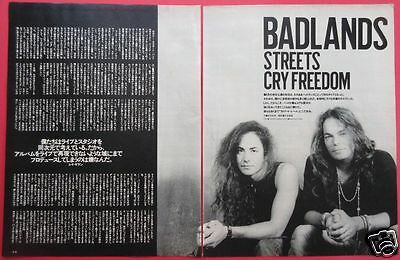 Badlands JAKE E. LEE Ray Gillen 1989 CLIPPING JAPAN MAGAZINE PG 8A 3PAGE