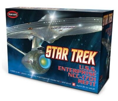 USS Enterprise NCC-1701 Refit Star Trek 1/1000 scale skill 2 model kit#POL820