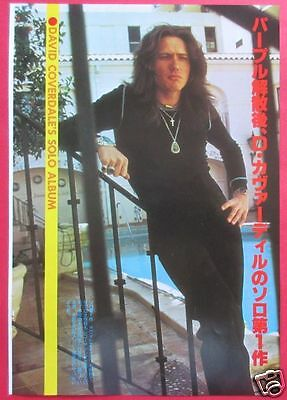 David Coverdale 1977 Clipping Japan Magazine Os 6A