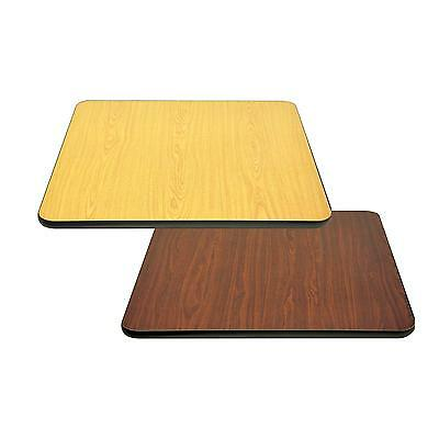 "BK Resources BK-LT1-NW-3024 30"" x 24"" Rectangular Reversible Laminate Table Top"