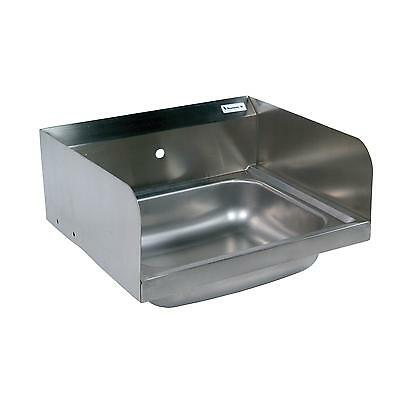 "BK Resources BKHS-W-1620-1-SS 20""W Wall Mount Hand Sink without Faucet"