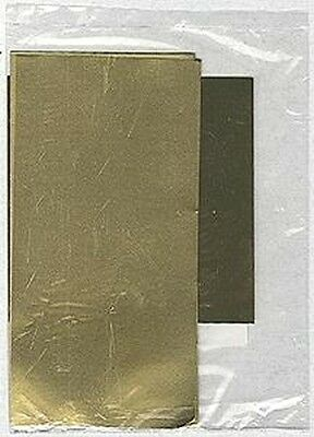 """Assorted Shim Brass Sheets 3x 6"""" x 3"""" and 1x 4"""" x 4"""" K&S#258"""
