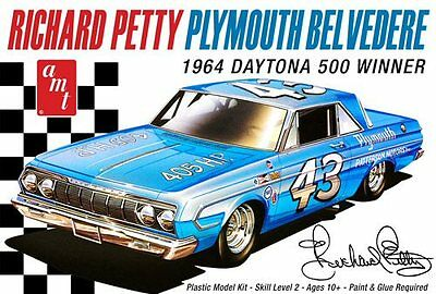 Richard Petty 1964 Plymouth Belvedere 1/25 scale skill 2 AMT model kit#989