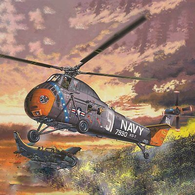 H-34 US NAVY RESCUE Sikorsky Helicopter 1/48 scale MRC plastic model kit#64102