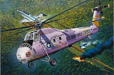 HH-34J USAF COMBAT RESCUE Sikorsky Helicopter 1/48 scale MRC model kit#64104