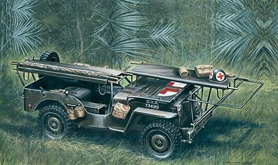 Ambulance 1/4 ton. 4x4 JEEP WW2 D-DAY Series 1/35 scale Italeri model#326