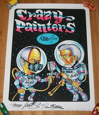 """2016 Tom Kelly """"Kelly & Son"""" Crazy Painters signed PPG SEMA Show Promo Poster"""