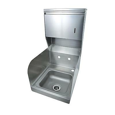 BK Resources Space Saver Wall Mount Hand Sink w/Towel Dispenser No Faucet