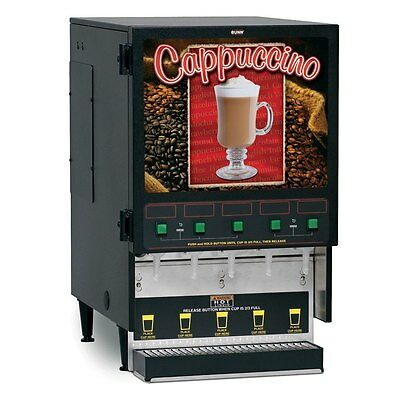 Bunn 34900.0000 Hot Cappuccino Beverage Dispenser with 5 Hoppers