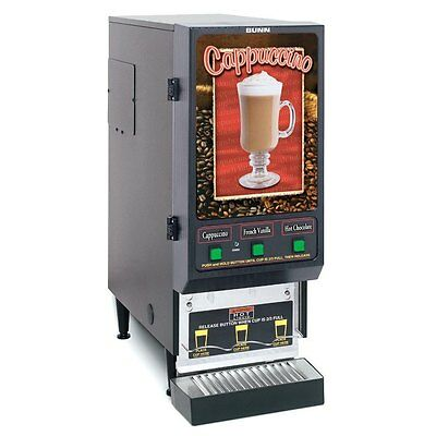Bunn FMD-3-SS-0198 Fresh Cappuccino Dispenser with 3 Hoppers