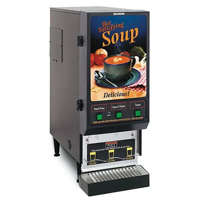 Bunn FMD-3-SS-0199 Fresh Mix Soup Dispenser with 3 Hoppers
