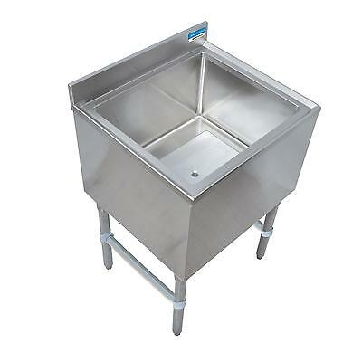 "Bk Resources 30""w Stainless Steel Underbar Insulated Ice Bin W/cold Plate - Bkib"