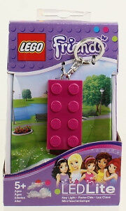 Lego Friends - Purple Lego Block LED Lite Keychain