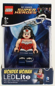 Lego - DC Comics Super Heroes - Wonder Woman LED Lite Keychain *NM*