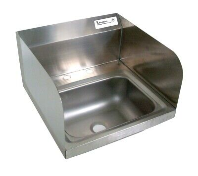 "BK Resources BKHS-D-1410-SS 13-3/4""W Wall Mount Hand Sink without Faucet"